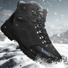 Mens Trekking Hiking Climbing Snow Boots Winter Sports Shoes Fur Lining Sneakers