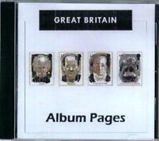 Great Britain CD-Rom Stamp Album 1840-2014 Color Illustrated Album Pages