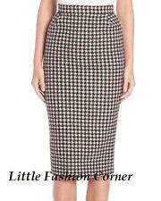 MAX MARA Cashmere&Wool Blend Houndstoot Skirt, size 14 USA_16 GB_44 D_46 F_48 I
