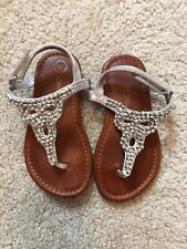 Cherokee Toddler Girls Silver Sparkle Sandals Size 8
