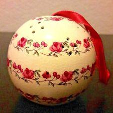 Andre Richard Sentomander Potpourri Pomander Ornament Ceramic Ball Pink Red Rose