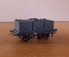 KIT BUILT 3 STEEL TUB COAL WAGON PLAIN GREY LIVERY. EM Gauge