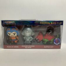 MASTERS OF THE UNIVERSE FIGURAL BAG CLIP WALMART EXCLUSIVE 3 Pack He-man Battle