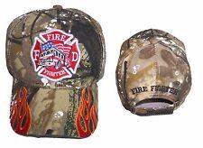 Fireman Fire Fighter Fire Department Camo  Baseball Caps Embroidered  (7501F9**)