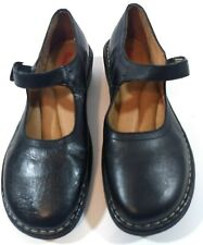 Womens Bass Black Shoes Flats Buckle Strap Sz 9