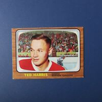 TED HARRIS  1966-67 Topps  # 69  Montreal Canadiens  1966 1967 66-67    NR-MT