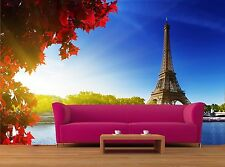 Color of  autumn in Paris 3D Mural Photo Wallpaper Decor Large Paper Wall