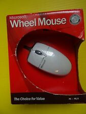 VINTAGE MICROSOFT Mouse PC Computer Wired Wheel PS/2 X08-70343 ** NEW IN BOX**