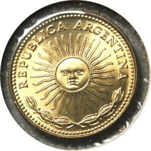 elf Argentina 1 Peso 1975 Narrow Rim  Sunface