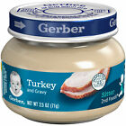 Gerber 2nd Foods Baby Food Jars Turkey and Gravy Non GMO – 2.5 Oz – Pack of 20