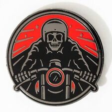 ROAD TRIP PIN - DATA - SKULL - MOTORCYCLE - PINTRILL - OBEY - PINGAME - HARLEY