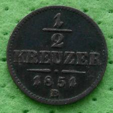 Österreich 1/2  KREUZER 1851 B