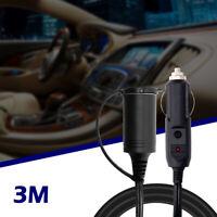 3m 12V Cable extensión de alimentación automóvil coche encendedor cigarrillos