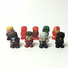 """Lot9pcs Marvel 1.5""""Ooshies Series 1 PENCIL TOPPERS Iron Man Spider Man Figure"""