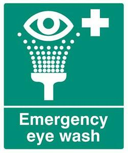 SIGN EMERGENCY EYE WASH SAV Personal Protection & Site Safety Signs