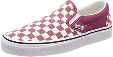 Vans U Classic Slip On Men's Checkerboard Dry Rose White Canvas Skate Shoes US 9