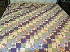 Sunham Purple Floral Quilt with One Pillow Sham