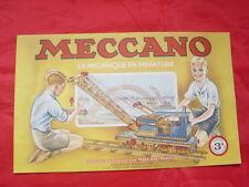 catalogue MECCANO n°3a