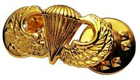 US ARMY Airborne Parachutist Paratrooper MINI Jump Wing Insignia GOLD PLATED PIN