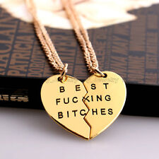 2PC/Set Best Fucking Bitches BFF Party Pendant Necklace Party Fashion Gift Hot