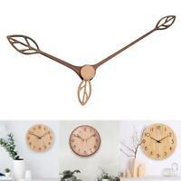 "10/12"" DIY Creative Wall Clock Wooden Hands Silent Movement Walnut Wood G0L0"