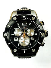 Invicta Men's 22235 Speedway Chronograph Black Dial Rubber Quartz Watch WARRANTY