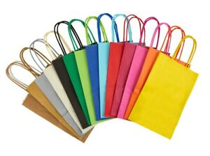 PAPER PARTY GIFT BAGS WITH HANDLES - SIZE EXTRA SMALL 14 x 21 x 8cm