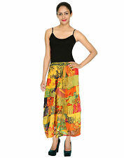 Regular Hand-wash Only Maxi 100% Cotton Skirts for Women