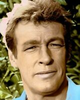 """RUSSELL JOHNSON GILLIGAN'S ISLAND TELEVISION ACTOR 8x10"""" HAND COLOR TINTED PHOTO"""