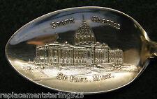 Sterling Souvenir Spoon St. Paul, MN Capitol Building, 1900-2