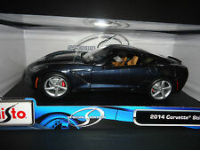 Maisto Chevrolet Corvette C7 Stingray 2014 bleu 1/18