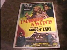 I MARRIED A WITCH R52 MOVIE POSTER VERONICA LAKE GREAT!