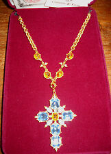 RARE Camrose & Kross Jacqueline Jackie Kennedy Jeweled Cross Pendant/Pin