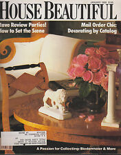 HOUSE BEAUTIFUL MAGAZINE JANUARY 1988 *HOW TO SET THE SCENE/MAIL ORDER CHIC""