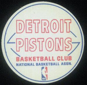 Detroit Pistons Original 1970's Cloth Fabric Sticker NBA Rare VTG Basketball Gem