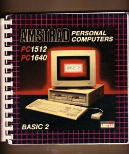 RETROCOMPUTER MANUALE AMSTRAD LOCOMOTIVE BASIC 2 PC 1512 - 1640 - 1986