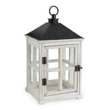Candle Warmers White Wooden Lantern Jar Container Candle Warmer w/ Halogen Bulb