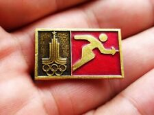 Vintage Soviet Badge Pin Sport Olympics 1980 Moscow,Fencing,Icon USSR