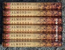 Hem Almond Incense 6 x 20 Stick, 120 Incense Sticks Nutty Fragrance New