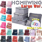 6Pcs Packing Cubes Travel Pouch Luggage Organiser Clothes Suitcase Storage Bags <br/> ⚠️BUY MORE GET 10% OFF⚠️ SYD STOCK⚠️FAST SHIPPING