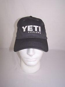 Yeti Coolers Logo Hat Cap Gray W/ White OSFM NWT