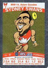 2010 Teamcoach Magic Wild MW-14 Adam Goodes Sydney Swans