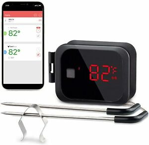 Digital Cooking Thermometer Wireless Bluetooth Grilling Smoker Meat Probes IBT2X