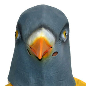 Animal Pigeon Head Mask Cosplay Masquerade Fancy Dress Up Carnival Party Props