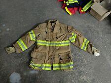 40x32 R Janesville Firefighter Jacket Coat Bunker Turn Out Gear Lion
