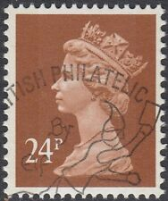 GB Stamps 1992 - Machin Definitive, 24p Chestnut, 2 Bands, S/G X1018, VFUsed