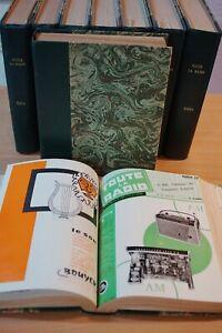 "TSF RADIO  9 volumes "" TOUTE LA RADIO "" fascicules de  1953 à 1961 .COMPLET"