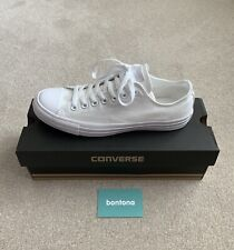 Converse All Stars Mono White Canvas Trainers - UK 8.5 - New With Box