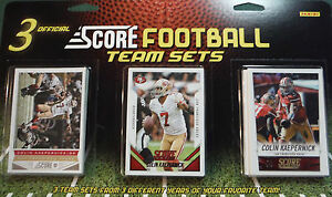 San Francisco 49ers Score Factory Sealed 3 Team Set Gift Lot 2013 2014 and 2015