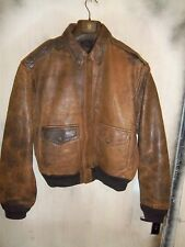 VINTAGE AVIREX USAAF ISSUE A2 LEATHER FLYING JACKET SIZE L